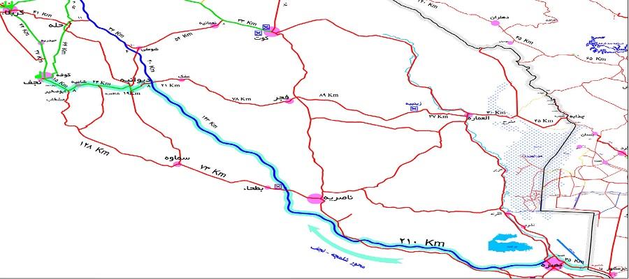 نقشه شلمچه-نجف-کربلا